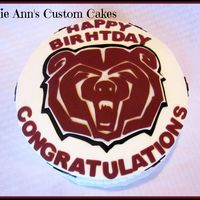 Missouri State Cake   Made cake for a lady for her birthday and promotion celebration, BC frosting with fondant accents