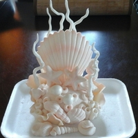 Cake Topper For a beach theme wedding cake.