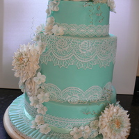 Wedding Cake Traditional rich fruit cake covered in marzipan the fondant decorated with lace icing and fondant flowers. I used artista soft for the...