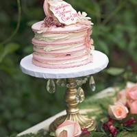 Vintage Macaron Cake French macaron cake made with Vanilla Bean buttercream and Dulce.. Vintage inspired