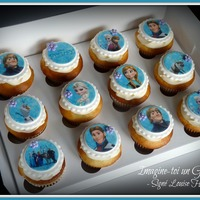 Frozen Cupcakes   Frozen cupcakes. Vanilla and chocolate with edible images.