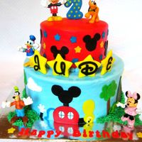 Mickey Mouse Club I just love Mickey Mouse! So this was so much fun for me to make. Mickey Mouse and friends are toys for the birthday boy, cake is frosted...