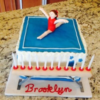 Gymnast ABC, Fondant decos, popsicle stick beam supports