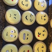Emoji Cookies Emoji cookies decorated with royal icing