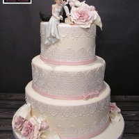 Romance Wedding Cake Cake lace wedding