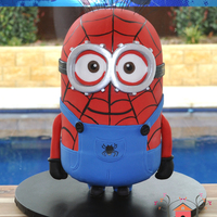 Spiderman Minion Cake I made this cake for my son's 5th Birthday. I have always wanted to try and make a standing minion cake and he loves Spiderman, so I...