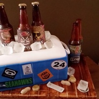 Cooler Cake Sugar beer bottles, isomalt ice cubes
