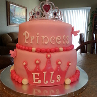 Ariella's First Birthday Cake   A simple princess cake for a beautiful little girl.