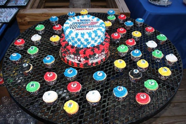 "Superhero Event So this cake and cupcake were donated for a major event held by MDA called ""Super Hero Poker Rally"" The cake was done with the..."