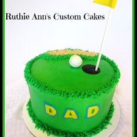 Golf Birthday Cake   Golf birthday cake, BC frosting with Fondant accents