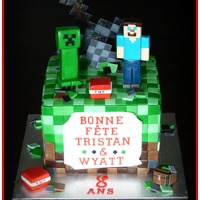 Minecraft Cake   Minecraft cake with sword