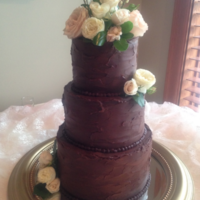 Chocolate Lover's Wedding Cake This bride wanted a chocolate wedding cake. I love how this turned out! So unusual, and so pretty! I used chilled chocolate ganache to...