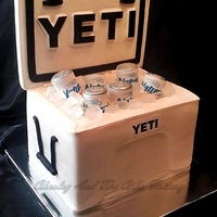 Yeti Cooler Cake Yeti Cooler made with all edible materials excluding the fondant covered board used for the lid. I used a Red Bull can to design a mold in...