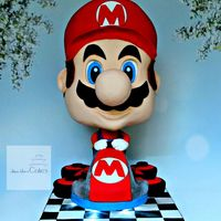 Mario Kart 8 Loved doing this cake so much fun! Thanks to Avalon Yarnes