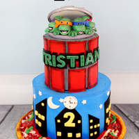 Tmnt Birthday Cake Super fun TMNT cake was inspired by a google picture.