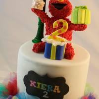 Elmo Birthday Cake Elmo birthday cake with tutu.