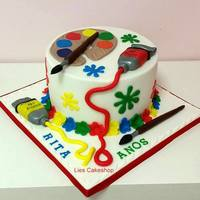 A Cake For A Painter This cake is for someone who loves to paint