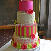 Hot Pink & Lime Green Wedding Cake Hot Pink & Lime Green Wedding Cake -PJ x