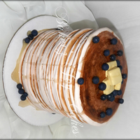 Stack Of Pancakes This cake was my daughters pick for her 15th birthday. It's Vanilla bean cake with blueberry filling and maple buttercream. Fondant...