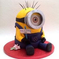 Minion 21St Birthday Cake Four layers of vanilla sponge cake