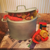 Country Boil Cake I went to a country boil and volunteered to bring a dessert but then my husband said I should make a country boil cake...Yea! My boys kept...