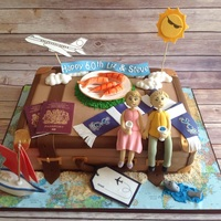 Travel Cake This was for a joint 60th Birthday for parents. The daughters provided me with a list of their favourite things. Really pleased with how it...