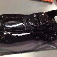 Batmobile Used LMF to make the black fondant and a 50/50 mix of corn syrup and vodka for the shine.