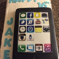 Iphone Cake IPhone cake with buttercream base, fondant letters and edible image.