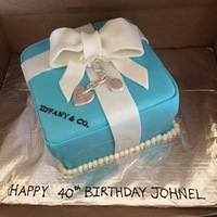 Tiffany Cake Tiffany Blue present cake