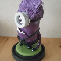 Purple Minion Blown sugar and pulled sugar
