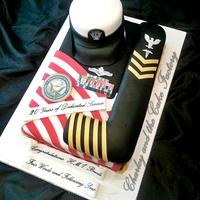 Navy Retirment Cake Navy retirement cake. All edible made from fondant or edible images.