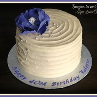Vintage Birthday Cake   Vintage style birthday cake with purple peony.