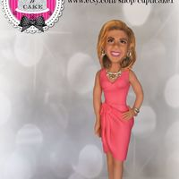 Hoda Kotb's Fondant Cake Topper Made for her 51st birthday, this topper was about 10 1/2 inches tall!
