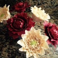 Gumpaste Flowers Dahlias and peonies First time ever making these guys. I am smitten