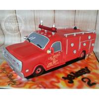 "Emergency! Tv Series: Fire Truck Cake Birthday cake for two brothers who are fascinated with the tv series ""Emergency!"" from the 1970's"