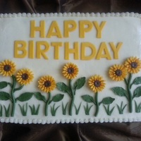 Summertime Carrot cake with cream cheese frosting. I wanted something bright and summery for my Dad's 91st birthday picnic. Top decorations are...