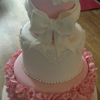 Christening Cake Made for my friend's daughter's christening thanks for looking