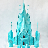 Disney's Frozen Castle Cake Design Credit credit goes to Celebrate with Cake