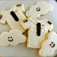 Pilot Cookies Sugar cookies with royal icing for someone who moved from a first officer seat to captain!