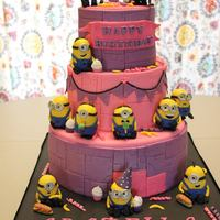 Minions Cake for Icing SmilesMinions are gumpaste