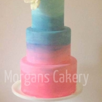 Painted Wedding Cake Colors used: Soft PInk diluted with ALOT of Vodka, and then I added titanium white to really mute it. I also used Wedgewood blue (custom...