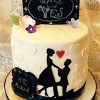She Said Yes This cake is for a young man who's about to pop the question and his family is surprising the young lady with this cake. It&...