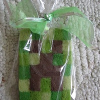 Minecraft Cookies I changed up my Christmas checkerboard cookie recipe to make these Minecraft cookies to accompany a birthday cake for a little girl who...