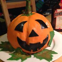 Halloween Pumpkin Cake I used my s.s. mixing bowl to bake this cake and it needed minimum carving afterwards. Unfortunately, I did not have enough fondant to...