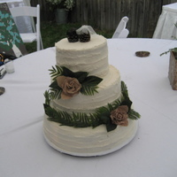 Wedding Cake 14/9/6 Rustic