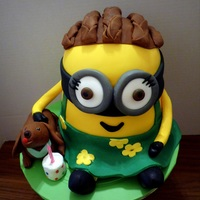Minion Cake Memories!  This cake was made for my African American very special friend. This is suppose to be her and her dog who passed away about a year ago. She...