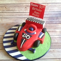Racing Car Cake Made this for a gent's 50th a Birthday.