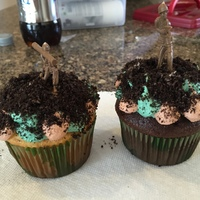 Army Man Cup Cakes Army man cupcakes for my awesome Godson who joined Army Reserves and is at bootcamp in Fort Jackson! I am beyond proud of this amazing...