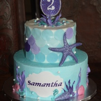 Under The Sea This under the sea cake highlights the amulet from Sophia as well as chocolate and fondant sea shells. This is a buttercream cake with...