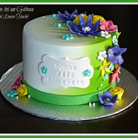 Spring Flowers Birthday Cake   Spring flowers birathday cake.